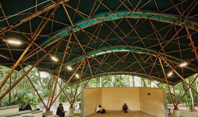 This Beautiful Eco Friendly Bamboo Amphitheatre Pops Up